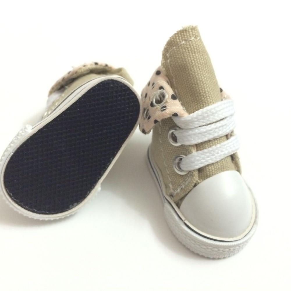 5 سنتيمتر bjd دمية الأحذية السببية سنيكرز للدمى ، مصغرة لعبة الأحذية الأحذية القماشية ل دمى bjd ، الأزياء دمية الملحقات 100 زوج