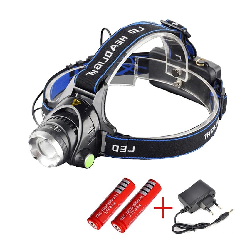 2000LM Rechargeable LED Headlamp Headlight Flashlight Head Light Lamp Durable OF
