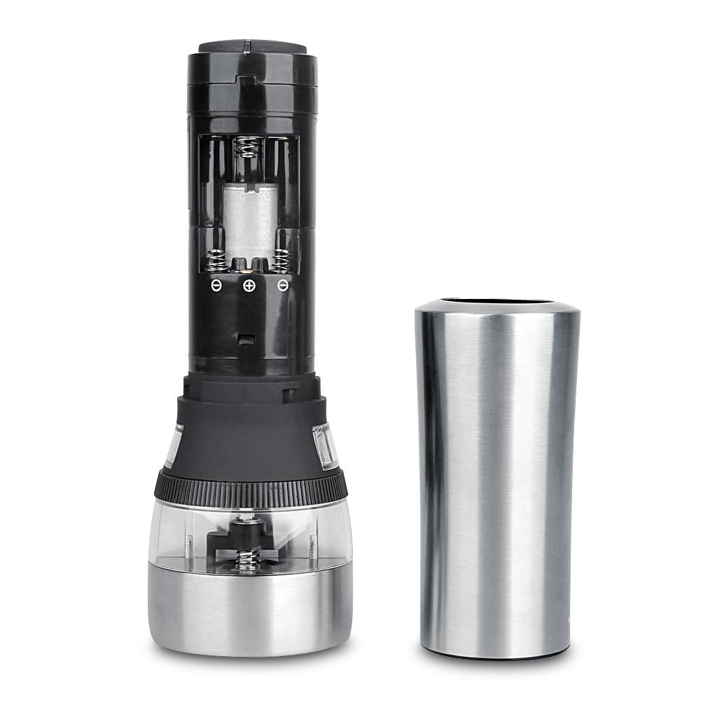 2 in 1 Electric Seasoning Grinding Salt Pepper Grinder Acrylic Muller Tool Portable Seasoning Grinding