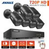ANNKE 8CH HD TVI H 264 DVR 6x 720P IR Day Night Outdoor Security Camera System