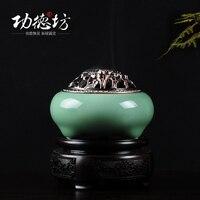 Longquan household GE kiln ceramic incense coil furnace home incense cone incense censer