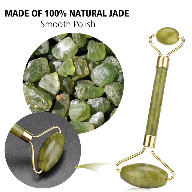Facial Massage Roller Jade Double Head Face Slimming Body Head Neck Lifting Tool Facial Massage Roller Stone Beauty Care Tools 4