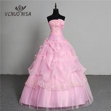 فستان زفاف الأميرات ذو 3 ألوان جديد موديل 2020 كوري رائع بدون أكمام فستان زفاف وردي ريترو لوتس فستان زفاف Vestidos de
