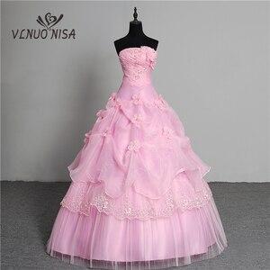 Image 1 - Vestido de noiva estilo coreano, 3 cores, novidade, estilo coreano, fofo, sem manchas, princesa, plus size, rosa, retrô, lotus, vestido de noiva, 2020 de