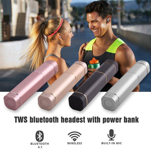 Mini tws k2 bluetooth v4.1 inalámbrico twins stereo headset-lipstick sized mikrafon in-ear auriculares para xiaomi samsung