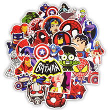 50pcs Super Hero Marvel Stickers Movies Character Deco Sticker For DIY Skateboard Motorcycle Luggage Laptop Cartoon Sticker Sets