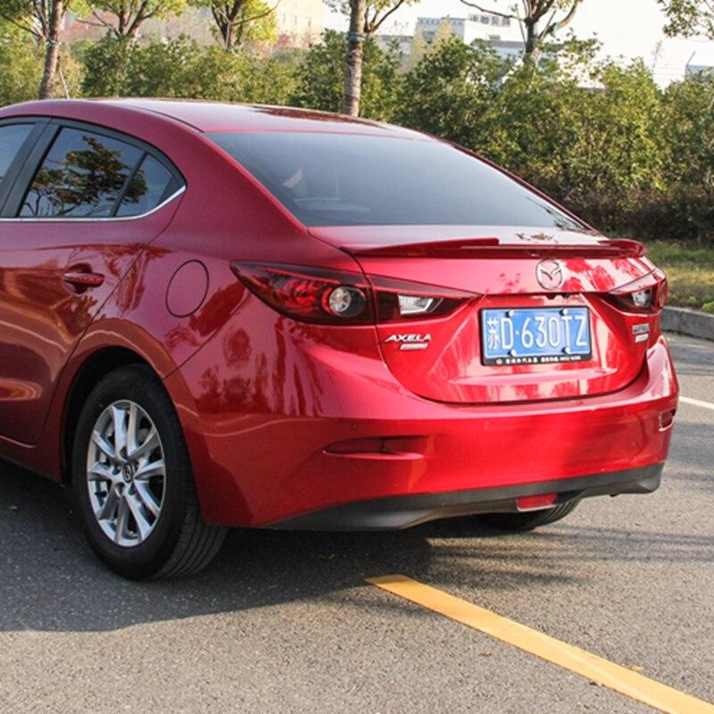 Für Mazda 3 Axela Auto Dekoration 2014 2015 2016 2017 M6 V Stil ABS Kunststoff Farbe Malerei Farbe Hinten Stamm LED Spoiler - 3