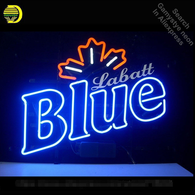 neon light up signs cool neon sign for labatt blue neon light sign custom brand design restaurant hotel garage neon signs