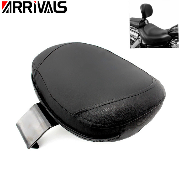 New Motorcycle Black Driver Rear Backrest Sissy Bar Cushion Pad Sissy Bar Pads For VL800 C50-in Seats & Benches from Automobiles & Motorcycles    1