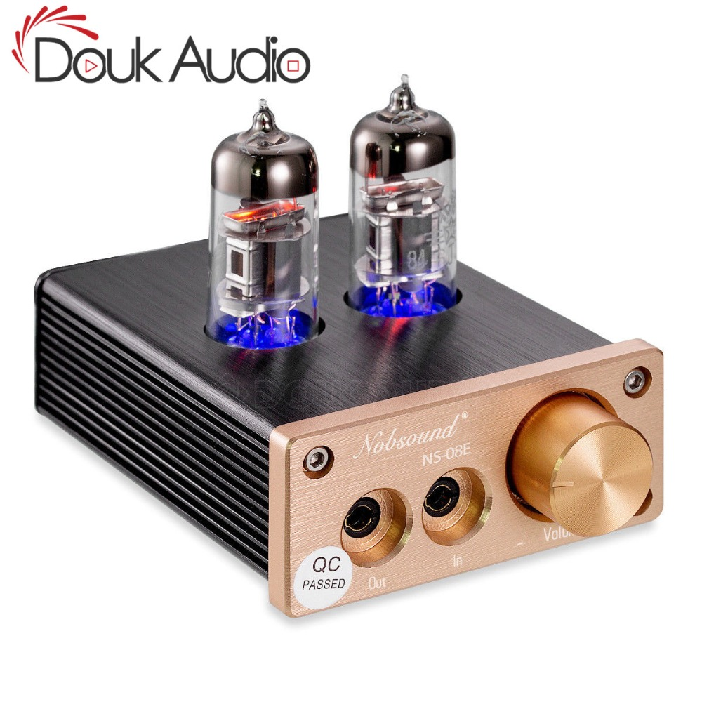 2019 Nobsound Lastest 6J3 Vacuum Tube Integrated Amplifier Mini Audio HiFi Stereo Headphone Earset Amp Free Shipping 2016 lastest douk audio vacuum 6j9 tube headphone amplifier stereo