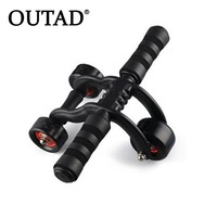 OUTAD 3 Wheel Fitness Abs Wheel Roller with Quiet Bearing Abdominal Workout Muscle Exercise Tool Gym Aerobic Exercise Equipment
