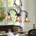 Europ schmiedeeisen anhänger licht kette hoist esszimmer schlafzimmer glas hängen beleuchtung-in Pendelleuchten aus Licht & Beleuchtung bei