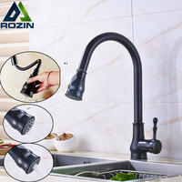 Good Quality Pull Out Kitchen Faucet Deck Mounted One Handle Single Hole Mixer Taps