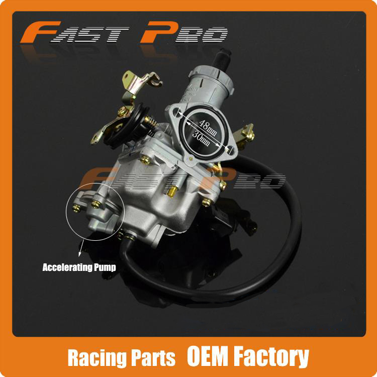 Cable Choke 30mm PZ30 Carburetor Power Jet Accelerating Pump For 200cc 250cc Motocross Motorcycle Dirt Bike