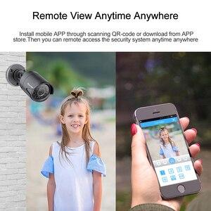 Image 4 - Techage 8CH CCTV sistema 720P HDMI AHD DVR CCTV 4 Uds 1,0 MP cámara de seguridad exterior infrarroja 1200 TVL cámara de vigilancia Kit 1TB HDD