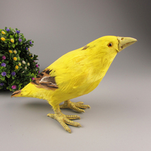 new simulation yellowbird toy polyethylene & furs handicraft yellowbird doll gift about 22x8x11cm