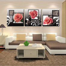 Large Wall Art Home Decor Modern Pink Rose Flower Canvas Paintings Canvas Picture for Living Room Cuadros Decoracion Salon HY112