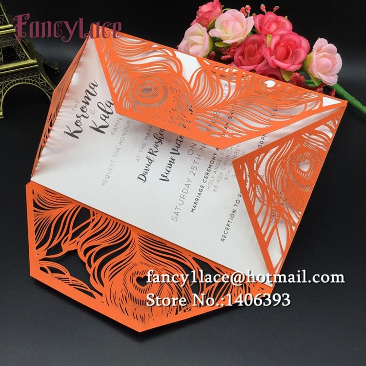 Online Get Cheap Wedding Invitations Feathers Aliexpresscom