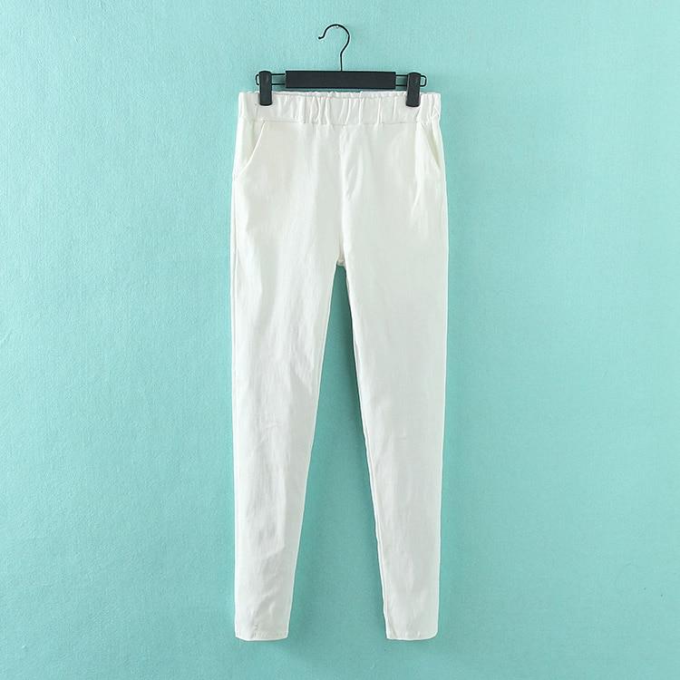 Pantallona me lapsa elastike Gratë krejt të reja Rastesishme Plus - Veshje për femra - Foto 4