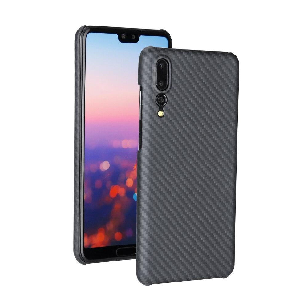 Étui pour Huawei P20 Pro en Fiber d'aramide souple de luxe coque de Protection complète affaires antichoc mat pour Huawei P20 Pro