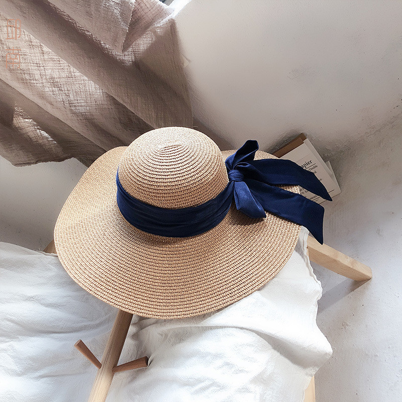 LANMREM 2019 Summer New Casual Fashion Temperament Women Loose Plus Sweet Solid Color Beach HatTC584