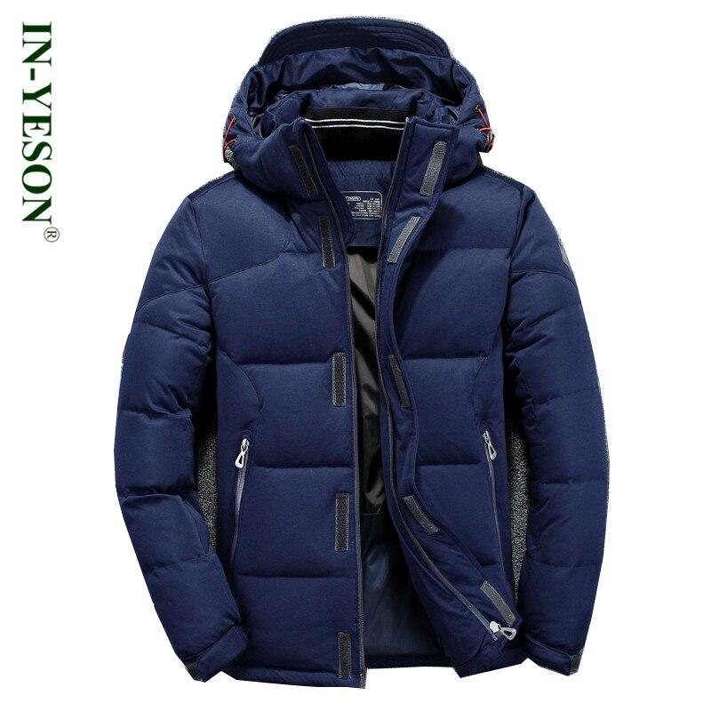 Здесь продается  IN-YESON Brand Down Jacket Men Top Quality Windproof Simple Design Hood  Men