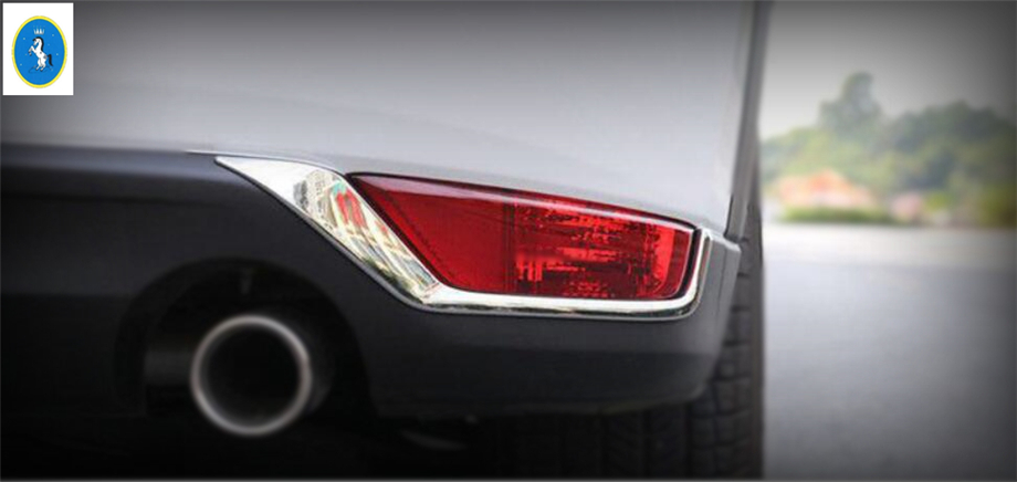 Yimaautotrims Auto <font><b>Accessory</b></font> ABS Rear Fog Lights Lamp Eyelid Eyebrow Strip Cover Trim ABS Fit For <font><b>Mazda</b></font> CX-5 <font><b>CX5</b></font> 2017 2018 <font><b>2019</b></font> image