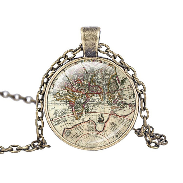 North america and canada antique map jewelry glass cabochon necklace north america and canada antique map jewelry glass cabochon necklace fashion world map pendant necklace hip gumiabroncs Choice Image