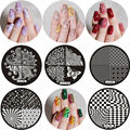 5pcs Nail Stamping Plates Nails Art Stencil Manicure Round Stamp Template Set For DIY Stamper UV Gel Nail Polish 2016 New Design