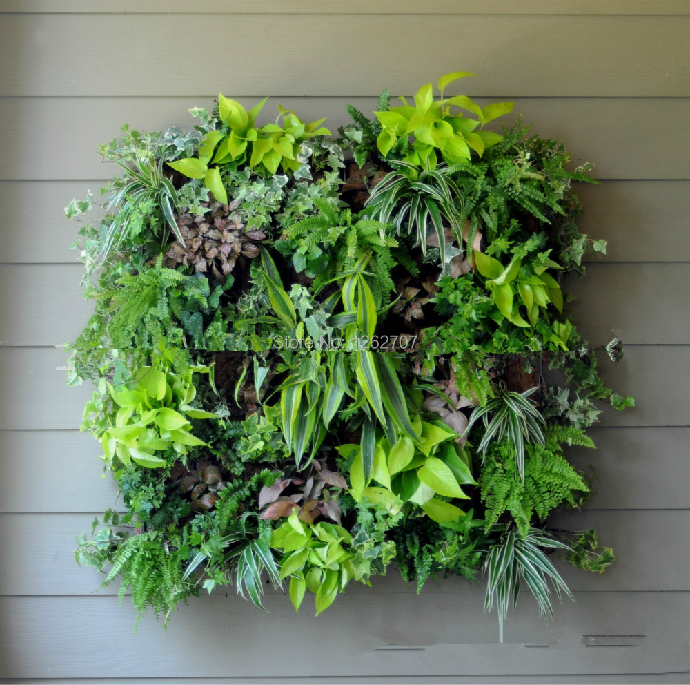 5pieces 4 Pocket Hanging Vertical Garden Wall Wall Planter - - Бақша өнімдері - фото 2