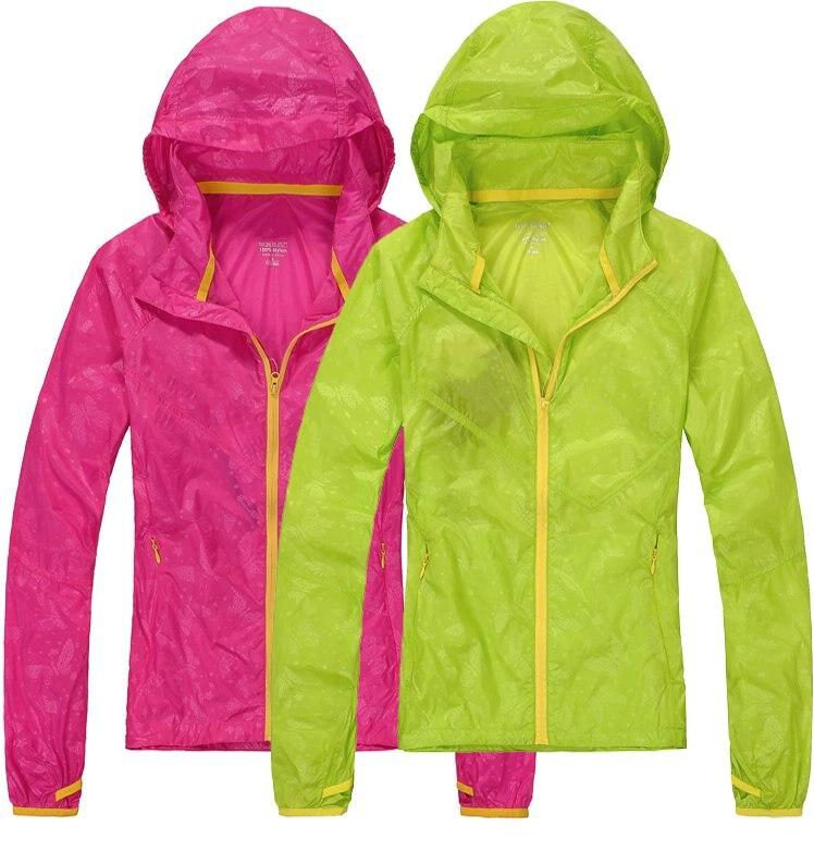 Windproof waterproof sunscreen skin coat outdoor clothing female tourism windtour wt13514 ultra slim outdoor sunscreen windproof rainproof coat for women beige siize l