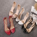 New style Women Sexy High Heels Mixed Buckle Strap  Peep Toe Celebrity Sandals Pumps Nightclub Shoes US5-US9