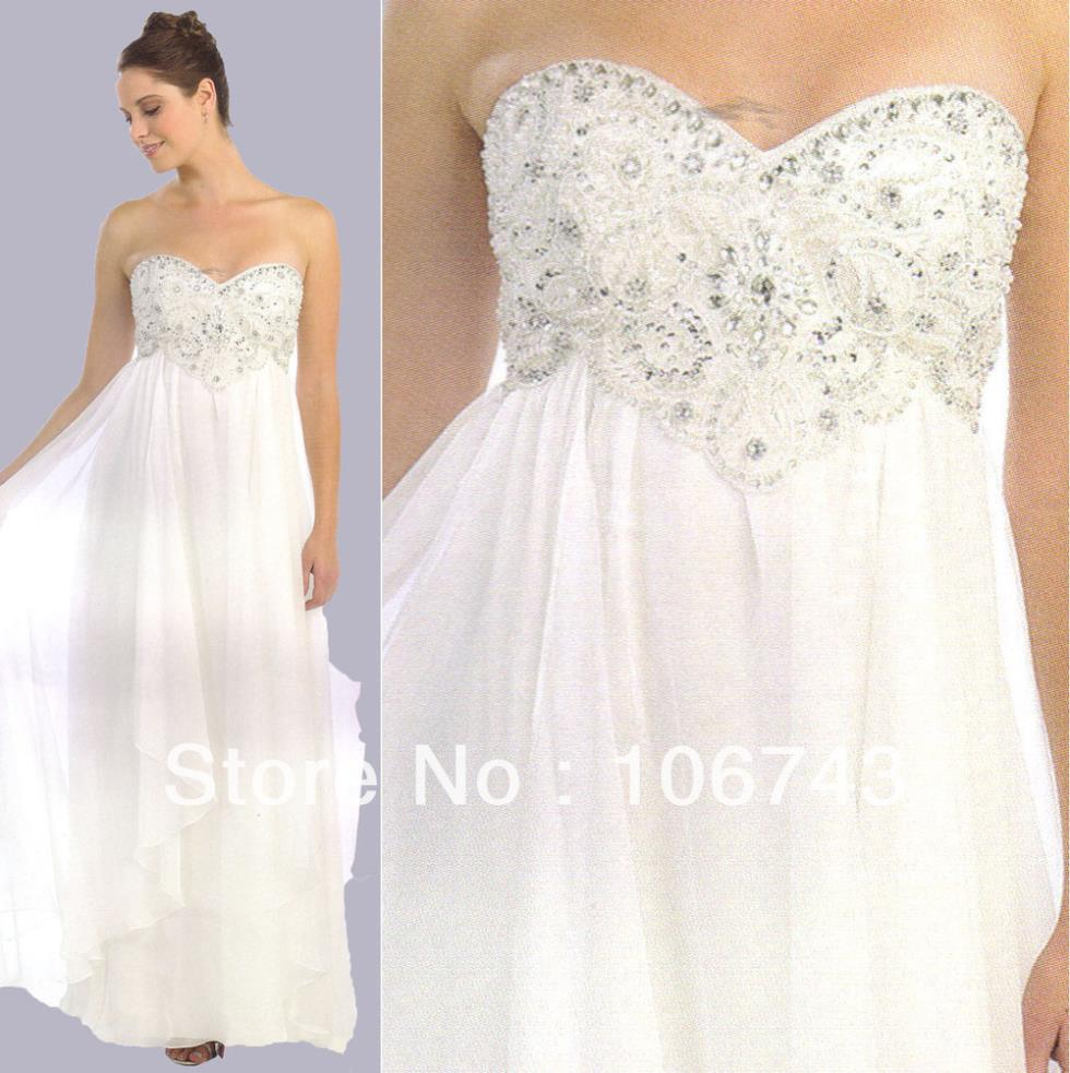 2016 hot sale Seconds Kill Limited free Shipping Gown Floor-Length Beach Sweetheart Chiffon with Beading Homecoming   Prom     Dress