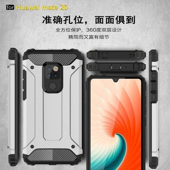 Luxury Armor Shockproof Case For Huawei Mate 20 x P20 Pro Honor magic 2 PC+TPU Full Cover For Huawei P20 Lite Soft Silicone Case