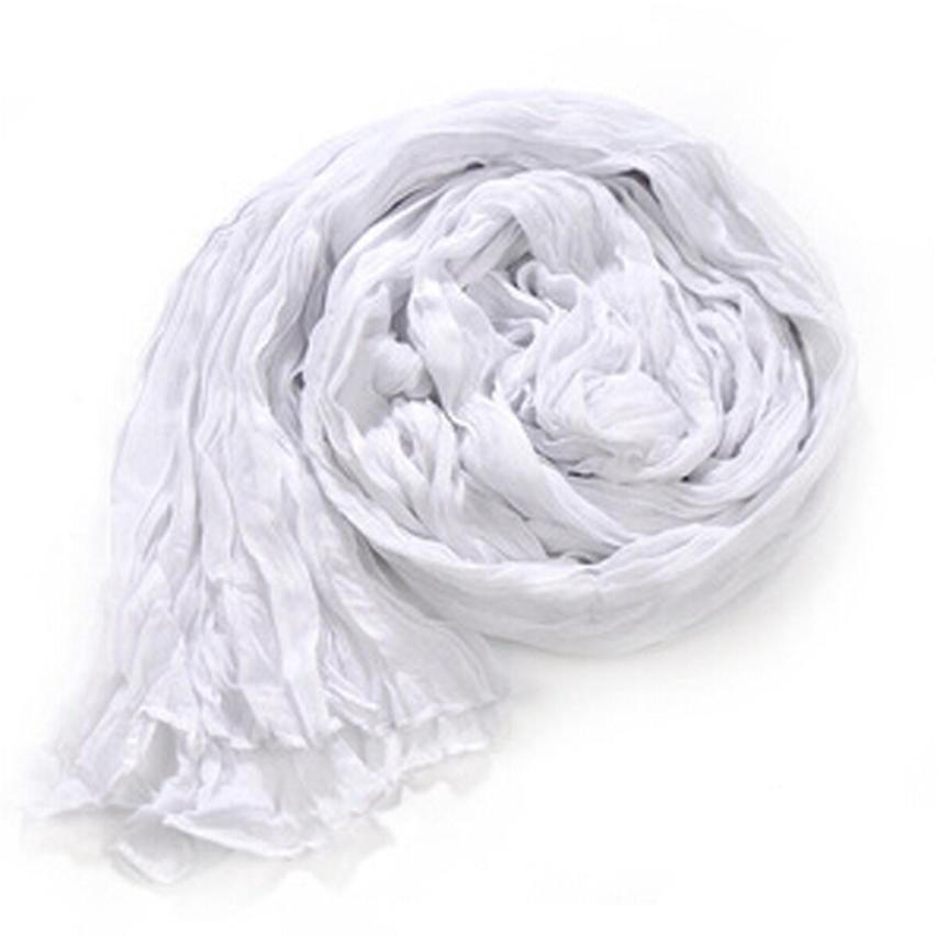 Women Candy Pure Colors   Scarf     Wraps   Shawl Long Soft Fold   Scarves   Autumn Winter Voile 170cm*90cm Pipe To The Neck Collar Natural