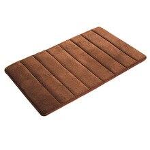 TFBC alfombra de baño antideslizante alfombras de baño de espuma de memoria 50*80 algodón Súper absorbente 10 Colores