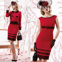 2015 New Arrival Red Lace Applique Satin Sheath Mother Of The Bride dress pant suits Plus Size Wedding Women Formal Gown