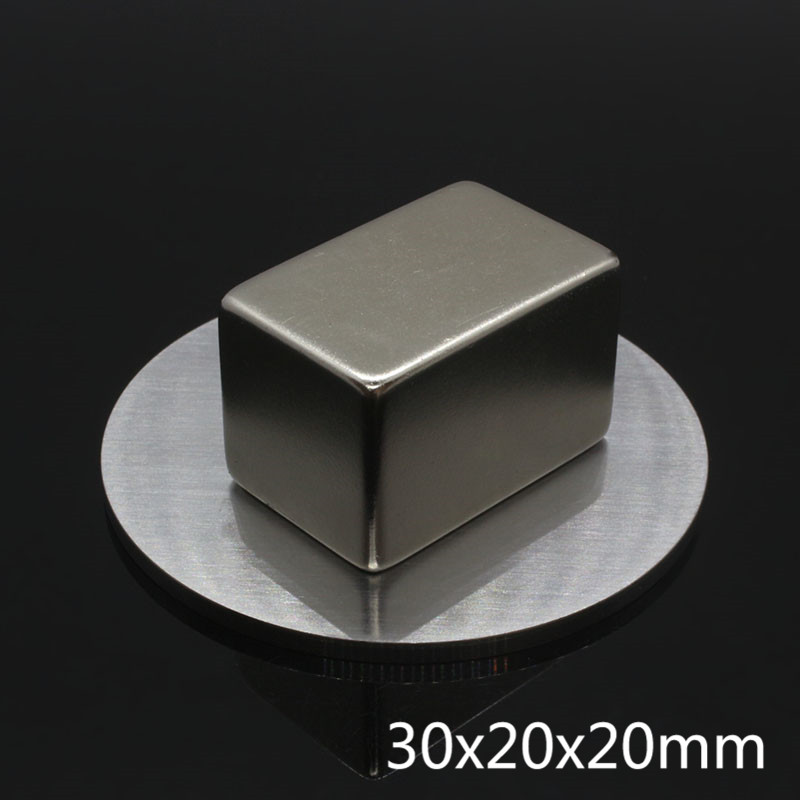 1pcs square Neodymium magnet 30x20x20 Rare Earth Strong block permanent 30*20*20mm fridge Electromagnet NdFeB nickle magnetic