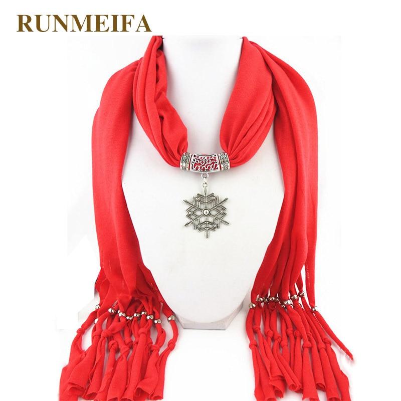 RUNMEIFA New Design Red Autumn Winter Women Pendant   Scarf   Christmas Santa Claus Shawl Lady Necklace   Scarves     Wraps   Retro Tassel