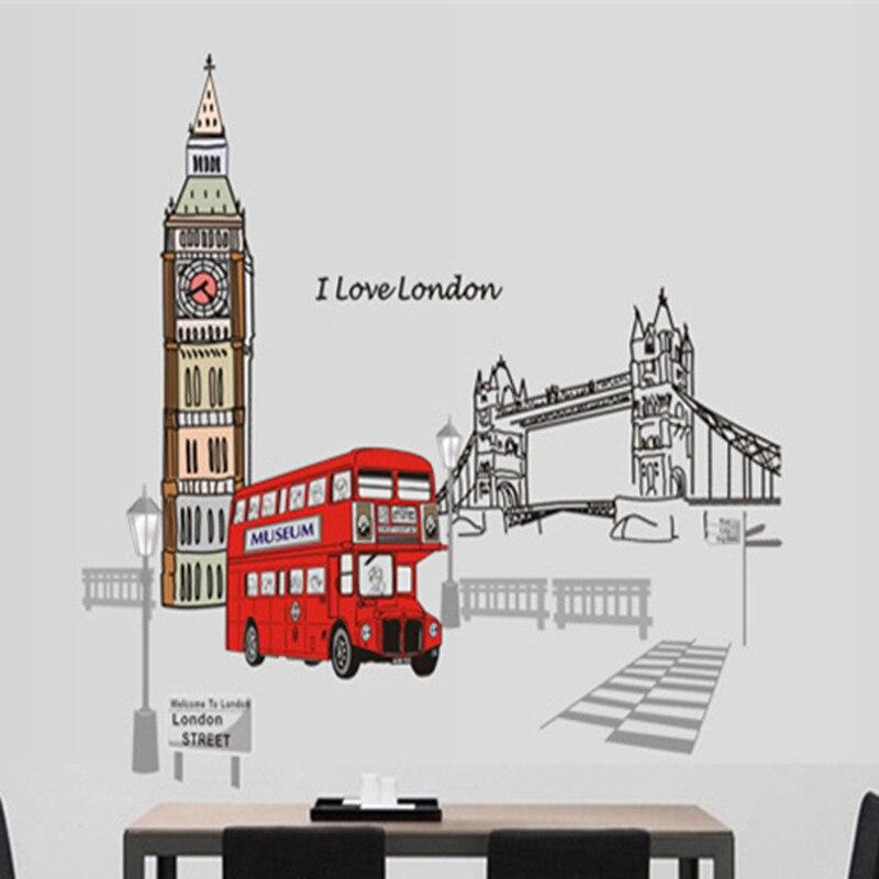 Londyn Piętrowy autobus Naklejki ścienne Naklejki Wymienny Creative - Wystrój domu - Zdjęcie 5
