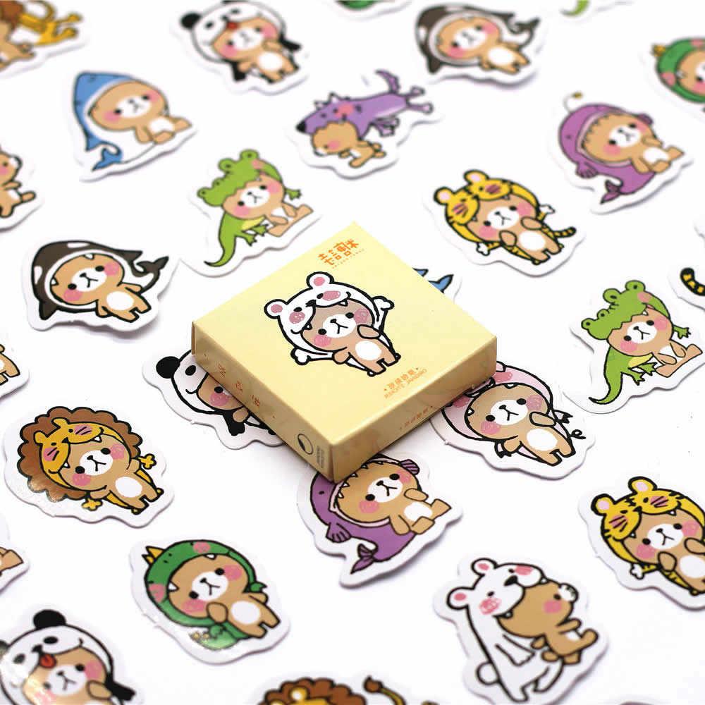 1pcs สัตว์หัวการ์ตูนน่ารักสติกเกอร์ Action FIGURE Action & Toy Figures ของขวัญของเล่นเด็กผู้หญิงเด็ก
