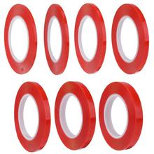 4/5/6/8/10/12/15mm Red Strong pet Adhesive PET Red Film Clear Double Sided Tape No Trace for Phone LCD Screen