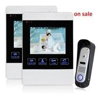 YSECU 4 TFT Color LCD Video Door Phone Doorphone Hands Free Visual Intercom Record IR Night