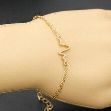 Exclusive original design accessories simple ECG lightning Bracelet personality lovers heartbeat frequency Bracelet татуировка переводная heartbeat
