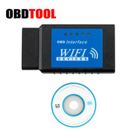 Newest ELM327 V1.5 WIFI OBDII Diagnostic Wireless Scanner For IPhone Touch Android ELM 327 V2.1 WIFI OBD 2 Scan Tool JC10