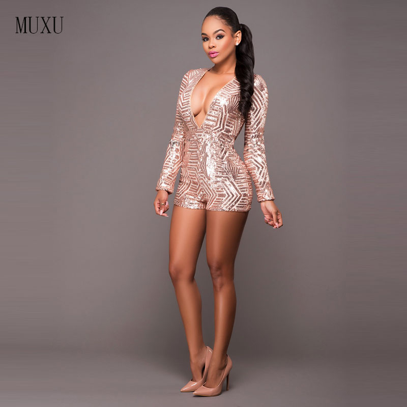 2017 plus size jumpsuits and rompers for women sequin jumpsuit body suit summer rompers womens jumpsuit shorts bodysuit women