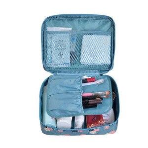 Image 5 - Mode voyage Nylon beauté maquillage sacs imperméable à leau cosmétiques sacs salle de bain organisateur de femmes Portable bain crochet lavage sac