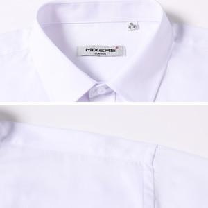 Image 4 - כניסות חדשות 2018 גברים של ארוך שרוול שמלת חולצות עסקים מקרית לבן חולצה גברים קלאסי Fit חתונה חולצה Camisa Masculina