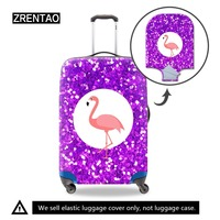 ZRENTAO 3D aniaml zipper luggage cover high quality new fashion suitcase protactor elastic polyester baggage case cover
