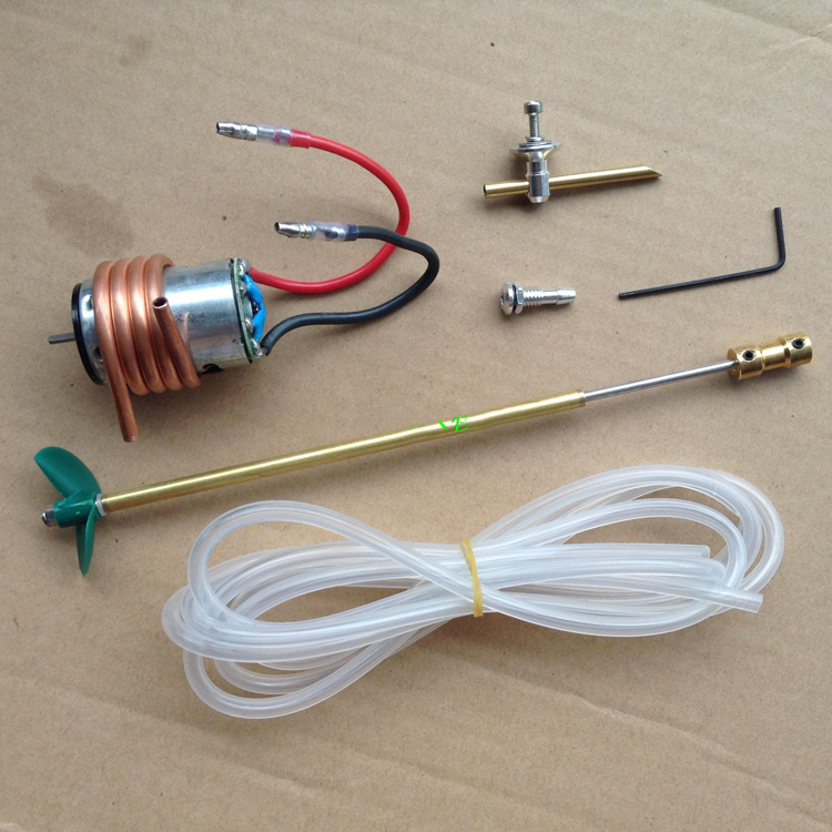 380 Motor+Motor Seat+Water Cooling Cover+CW Nylon Propeller+Hard Shaft+Connector+Silicone Tube+Water Mouth Set For DIY RC Boat